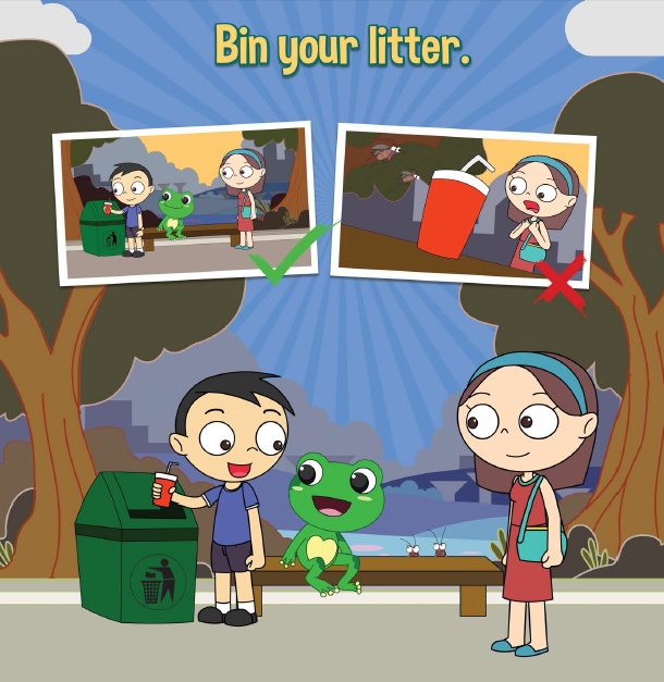 Let's Be Considerate. Bin your litter.