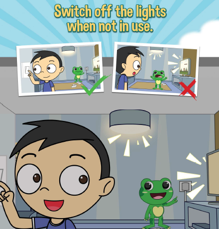 Let's Not Be Wasteful. Switch off the lights when not in use.