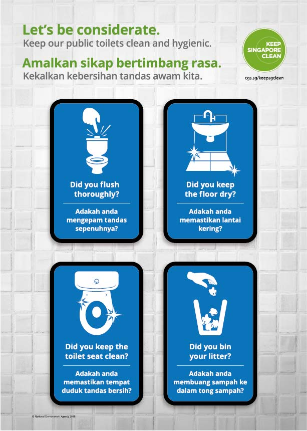 Public Toilet Cleanliness Poster (Eng/Malay)