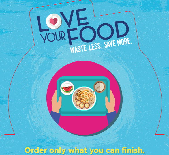 Food Waste Reduction Wobbler - Buy / Order only what you can finish